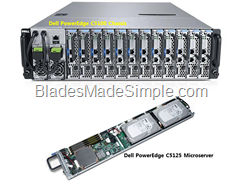 Dell PowerEdge C5100 chassis and C5125 Microserver